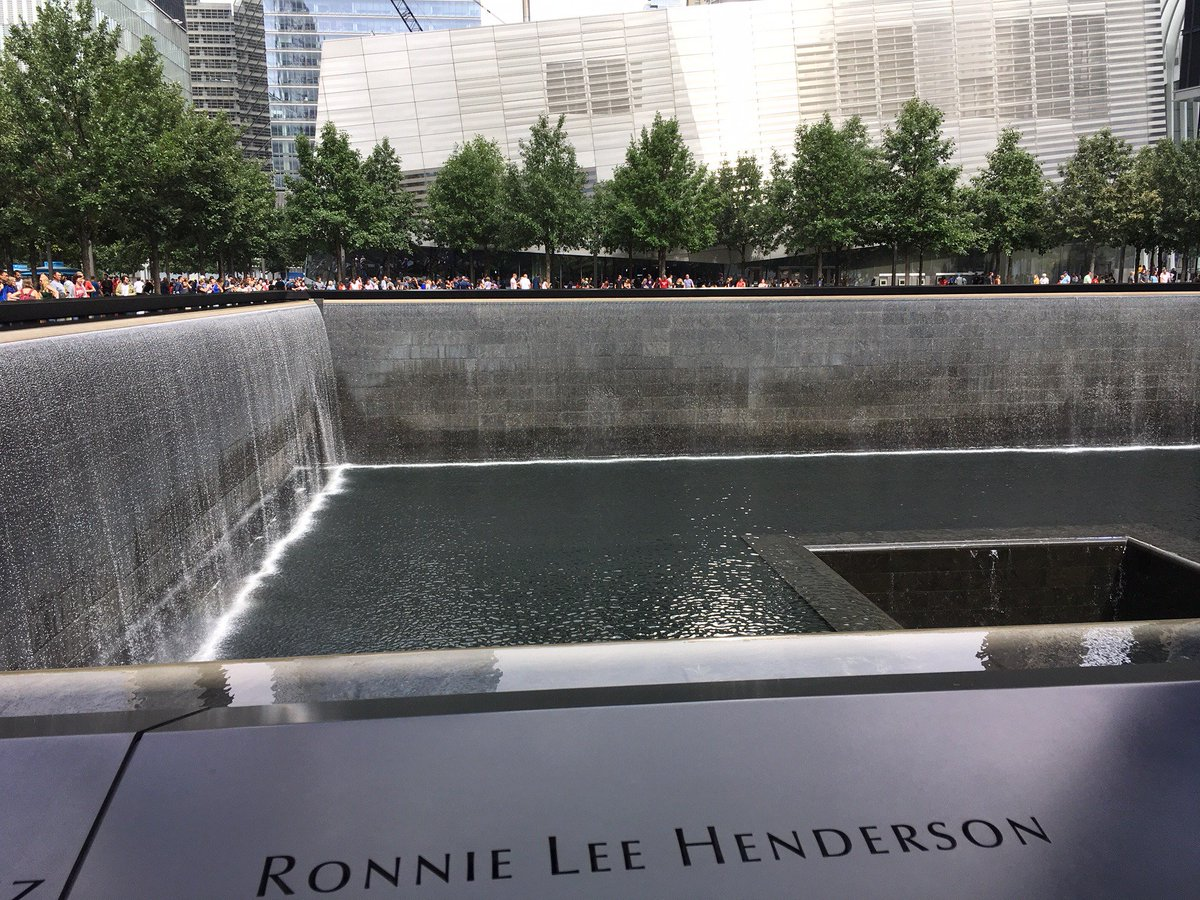 test Twitter Media - I visited the 9/11 Memorial and Museum. I stood by one of the gigantic square reflecting pools marking where the Twin Towers stood. The waterfall, in my view, represented endless tears pouring into a bottomless opening, surrounded by names of all who died. Heartbreaking. #9/11 https://t.co/mr5tPQtmtV