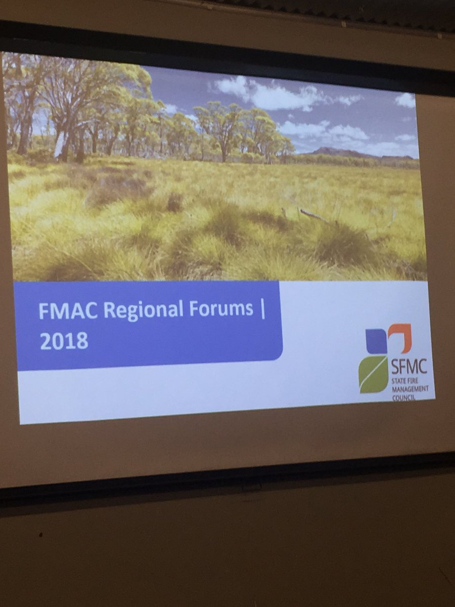 State Fire Management Council FMAC forum great...