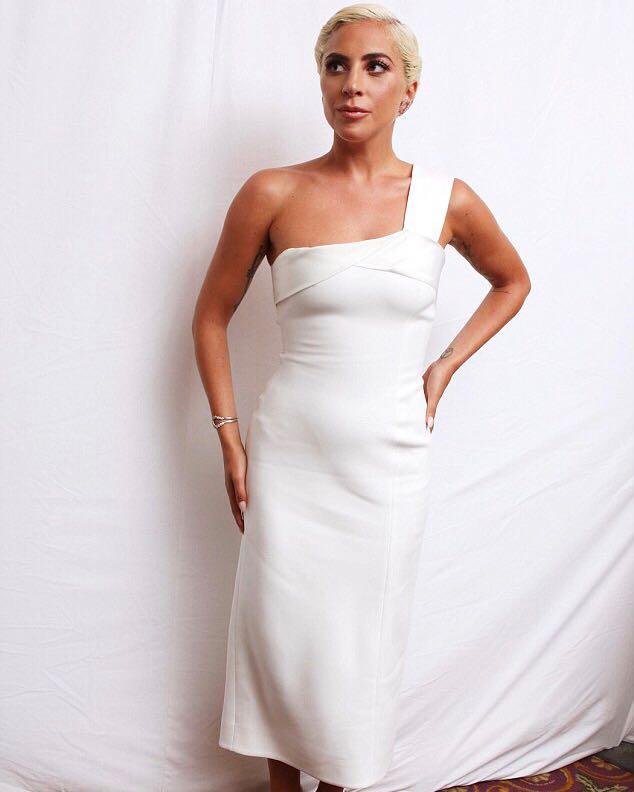 .@ladygaga looks amazing in my #VBAW18 satin drape dress! Can't wait to see #AStarIsBorn x VB https://t.co/TttO7nrefI