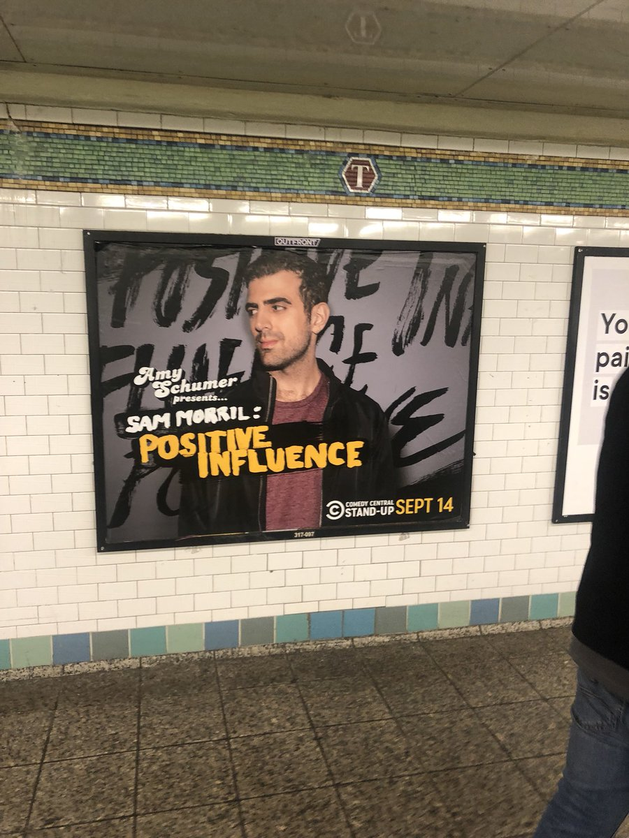 Be sure to watch my friend @sammorril's new stand-up special, #PositiveInfluence, this Friday on @ComedyCentral. https://t.co/HNuCFrNmhK