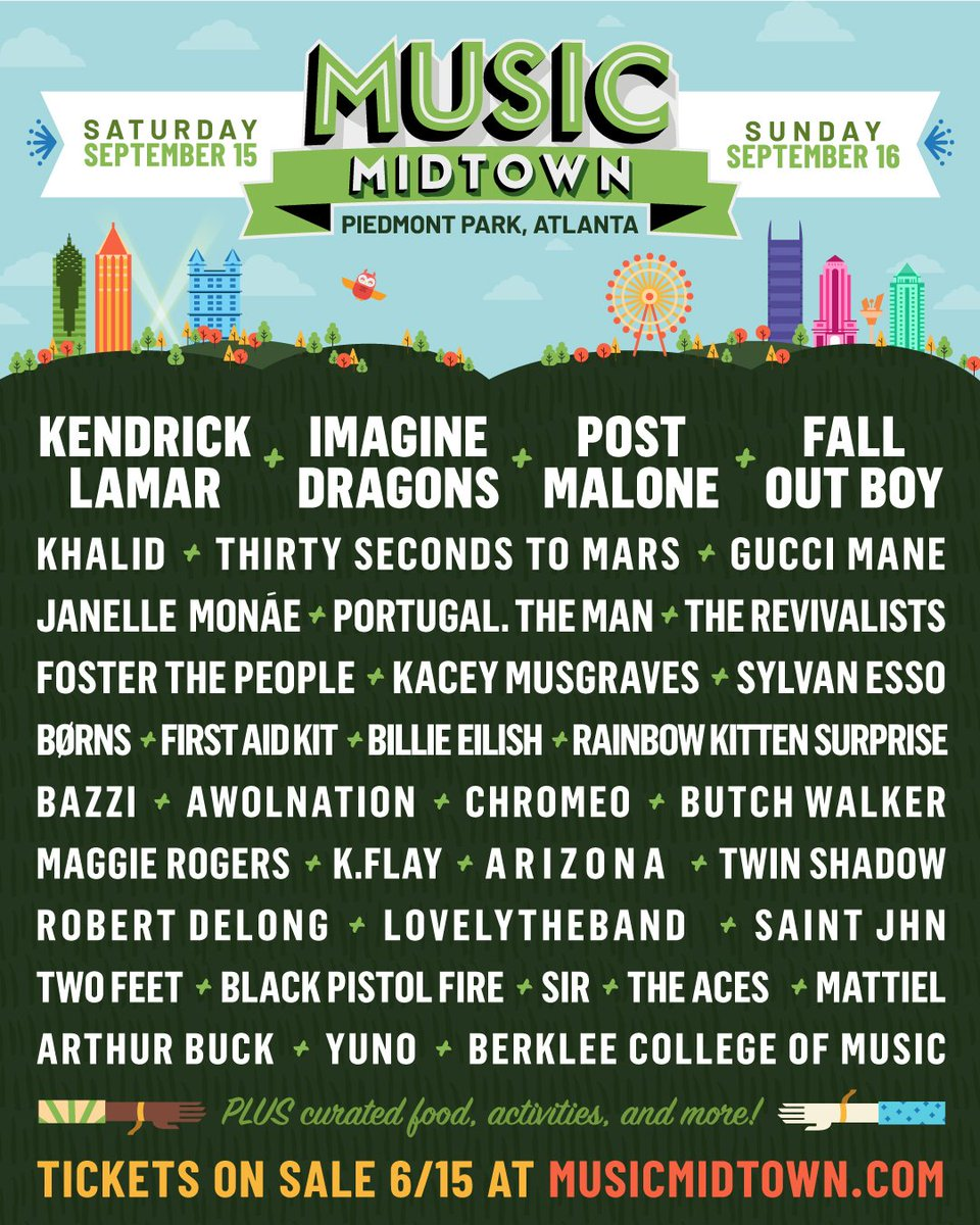 Heading your way this Saturday, GEORGIA.. See you then?   #MusicMidtown  https://t.co/SO7ZMJZnqR https://t.co/lObErwMUEl