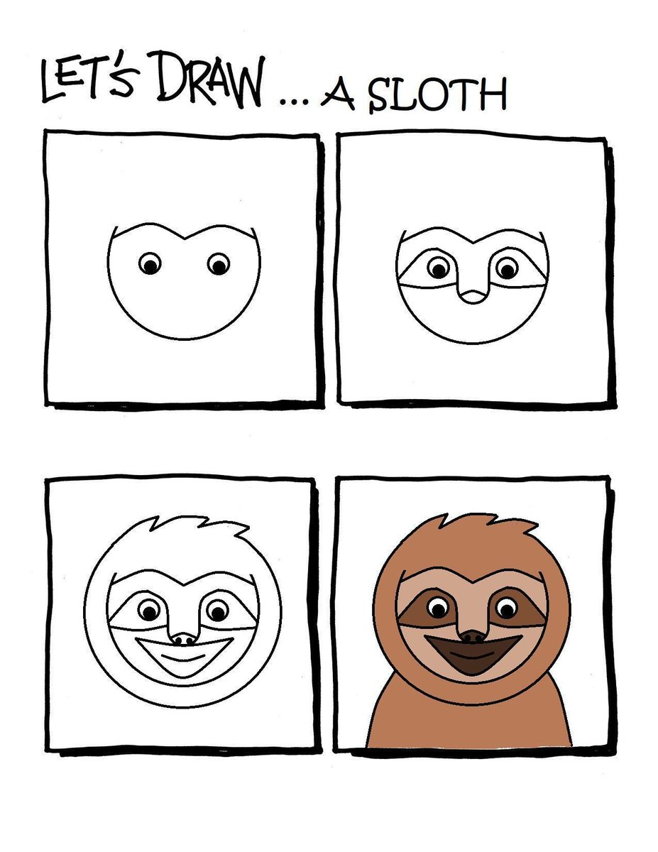 A very useful guide for how to draw a sloth. https://t.co/hJtWrWSfjQ https://t.co/CFEQ0KYK8S