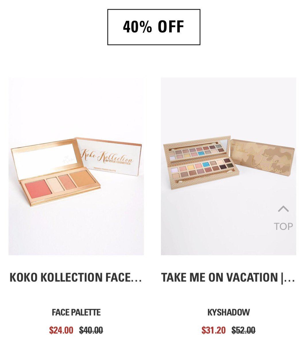 My Koko face palette is 40% off in the @kyliecosmetics Labor Day weekend sale at https://t.co/8Tz1bLoLTe ❤️???????? https://t.co/YKGjrqUJBx