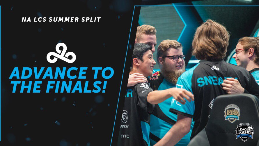 RT @Cloud9: #C9LoL ADVANCE TO THE 2018 #NALCS SUMMER SPLIT FINALS AFTER BEATING @TSM 3-2! #C9WIN https://t.co/8uCqnJTBbf