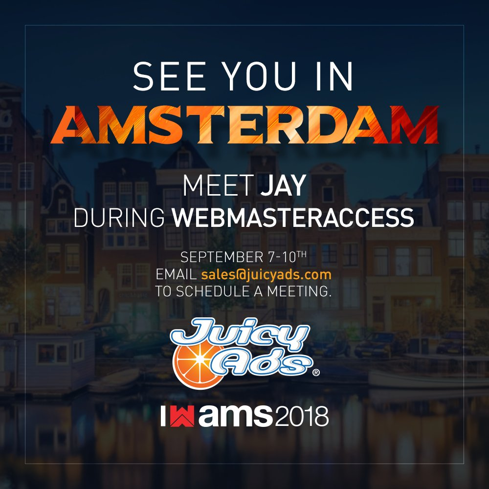 Flying out to Amsterdam tomorrow afternoon. Looking forward to seeing you there! x7Ki8q