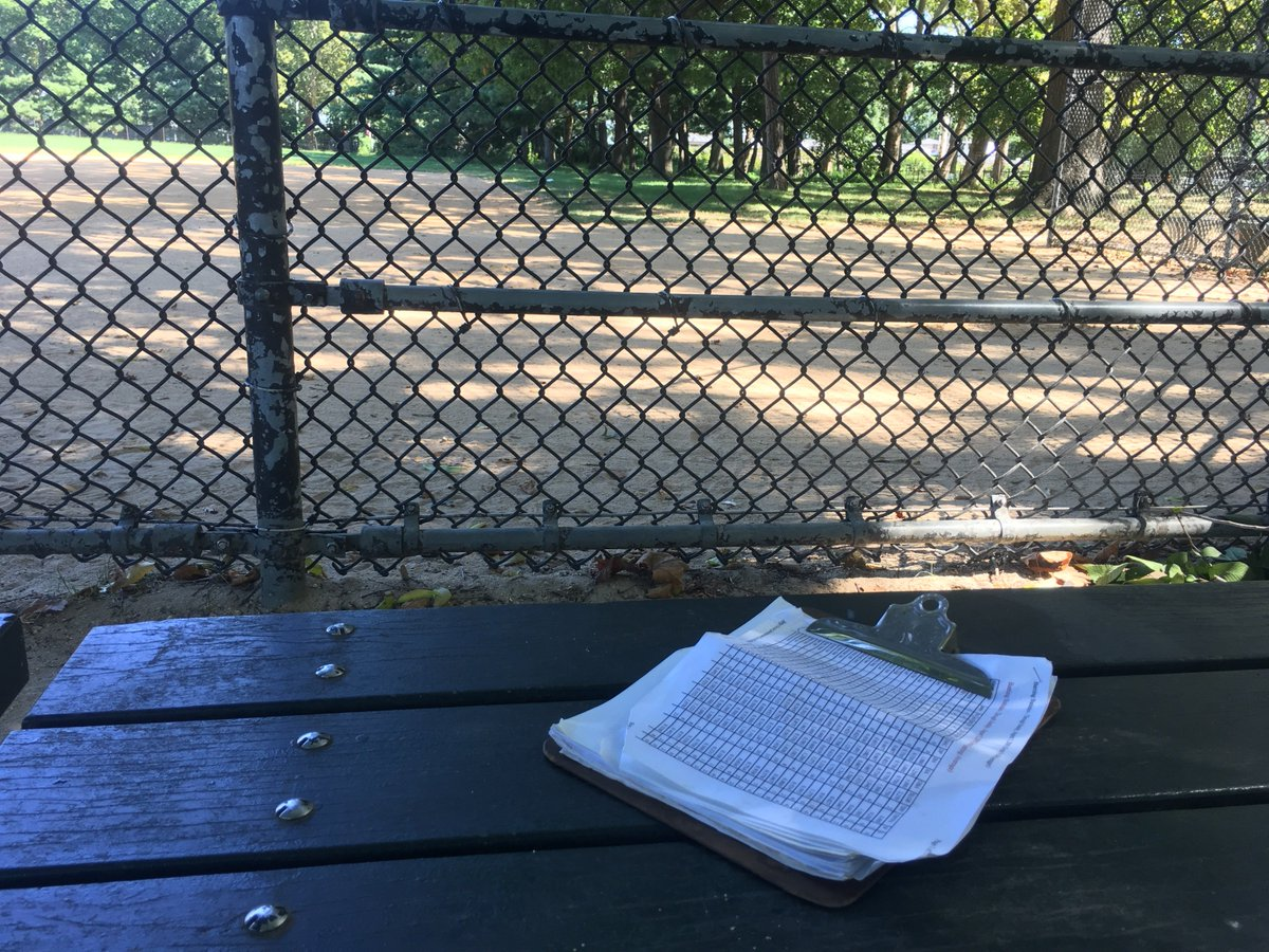 Who left the clipboard at the Park?  It has our stats on it!! Hanx https://t.co/LidGjWreA8