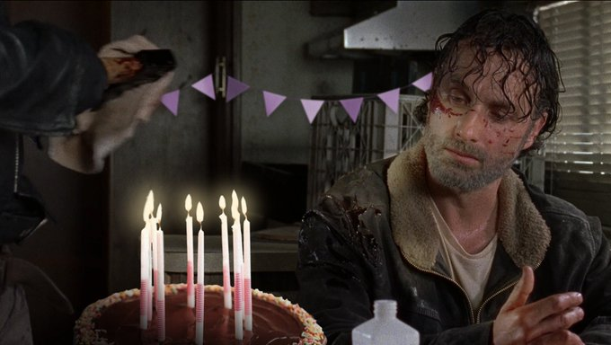 Happy Birthday Andrew Lincoln. It\s a shame the party looks a little dead.