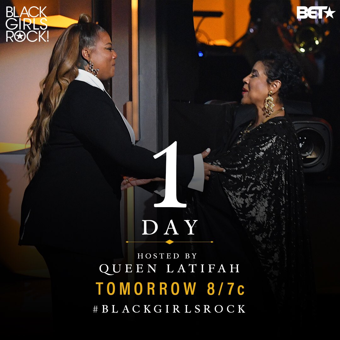 #blackgirlsrock is on tomorrow night! https://t.co/FIUrZvJWLO