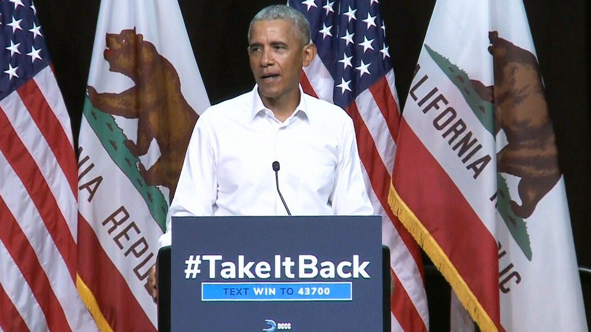LIVE NOW: Obama headlines campaign rally in California.