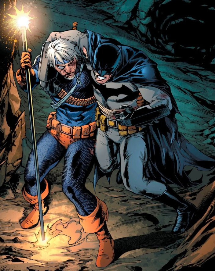 """Trapped in the Batcave with the Feds incoming, Slade will have to help the Dark Knight if he has any hope of making it out! What'd you think of the EPIC conclusion to """"Deathstroke vs. Batman"""" in DEATHSTROKE #35? https://t.co/W3vmwGFIKF"""
