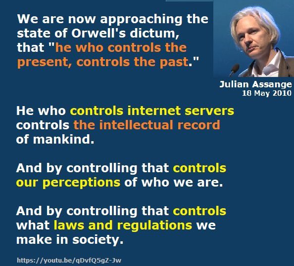 RT @DefendAssange: Julian Assange's #censorship warning eight years ago https://t.co/GkceiaSLC1