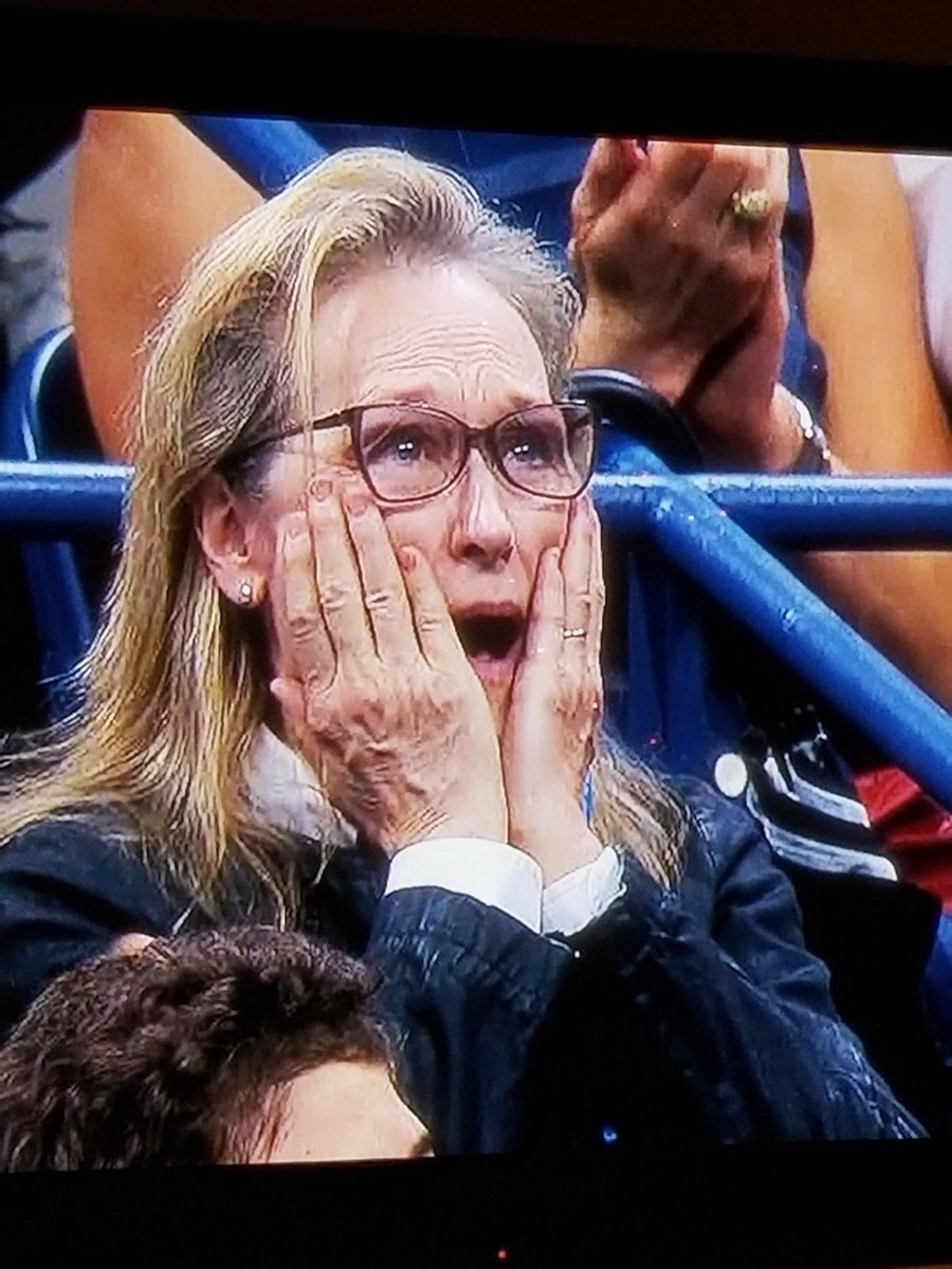 "Meryl Streep just got nominated for an Emmy for ""Best Reaction at the US Open Finals"". https://t.co/ZWdlI9vp41"