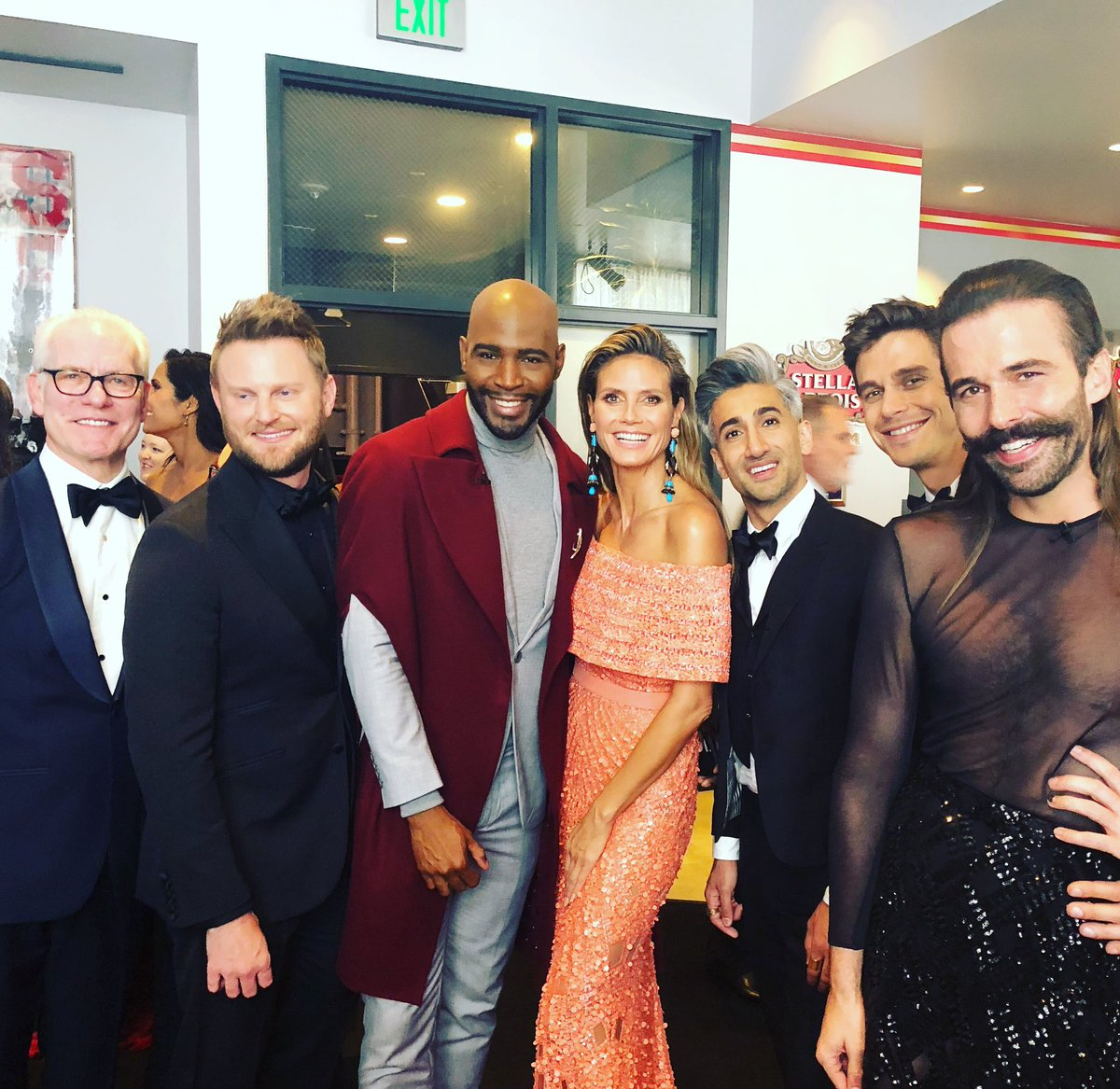What an absolute thrill to run into the gang from @queereye ???? #CreativeEmmys https://t.co/yZ5S6j9uxn