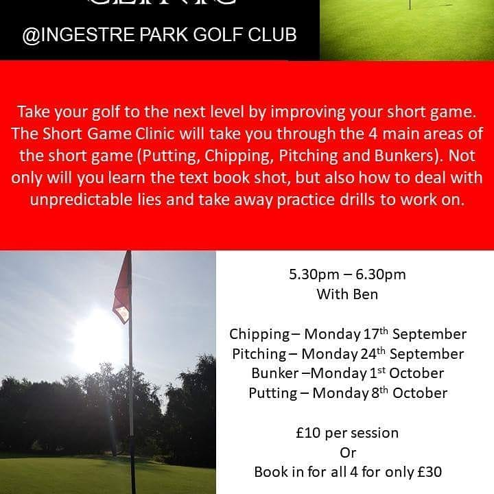 test Twitter Media - Just 1 week left to book your place on our Short Game Clinic starting Monday 17th September - 5.30pm-6.30pm Time to sharpen up your shortgame To book go to  https://t.co/NuZ7XdW9s1 Please share @MidlandsGolfer @staffsgolf @ChaseGrammar @GolfRootsHQ @GetIntoGolf @staffsgolfclubs https://t.co/hgtQVvb6Ze