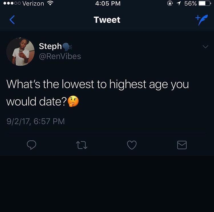 Lowest is 27-30 and highest is 40-45. Boys my age gross me out. I like daddies 🤤 eRPH2g
