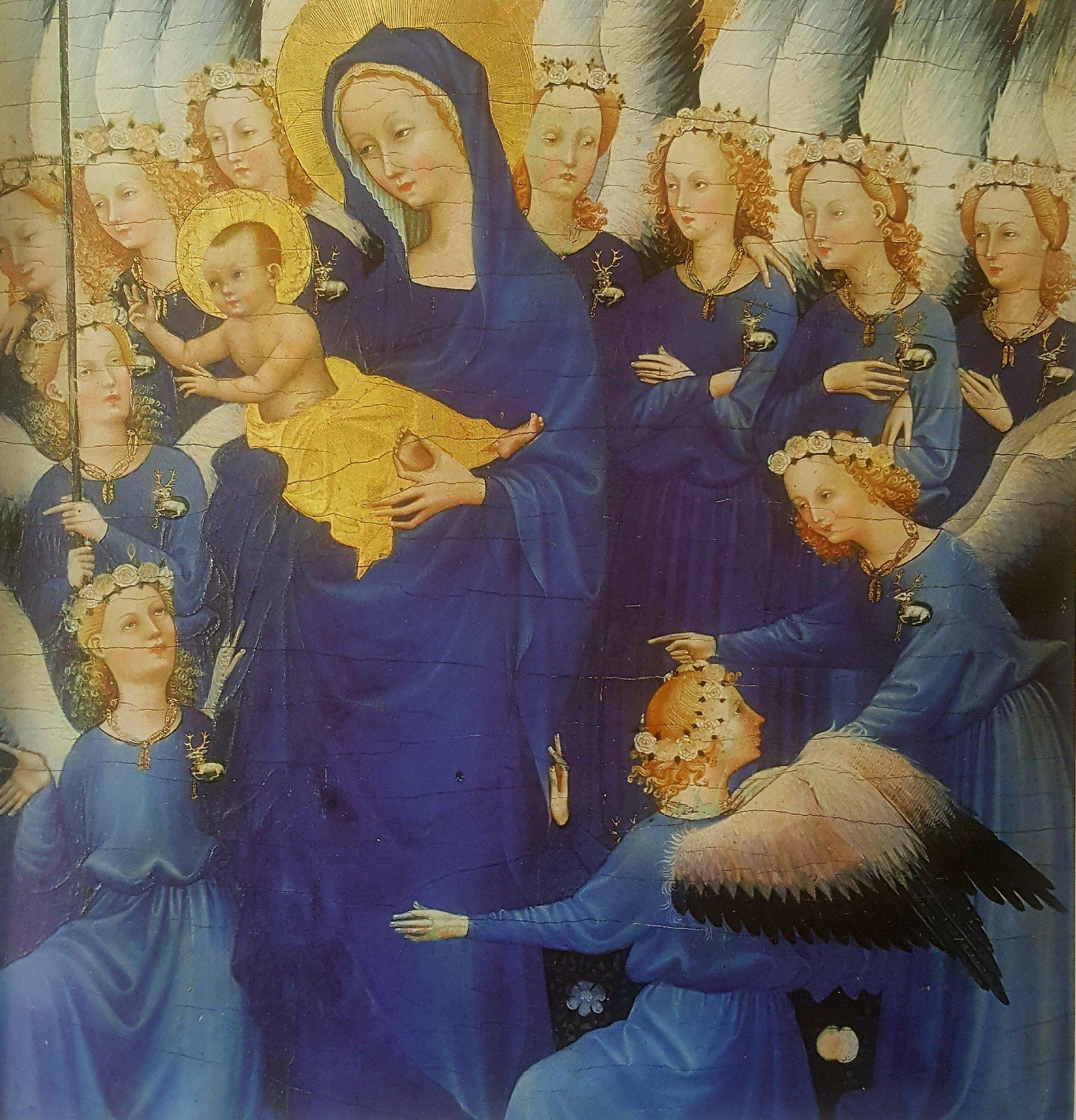 Blu mariano  colore divino  -  Dittico Wilton, autore ignoto  1395 circa https://t.co/06cwDJzvaN