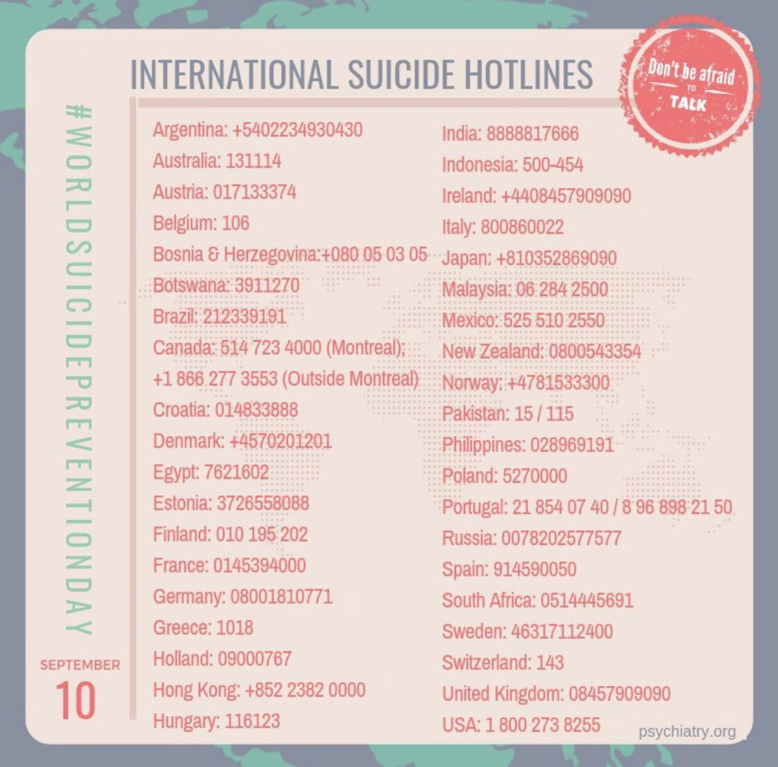 #WorldSuicidePreventionDay https://t.co/9ewofFO7gA