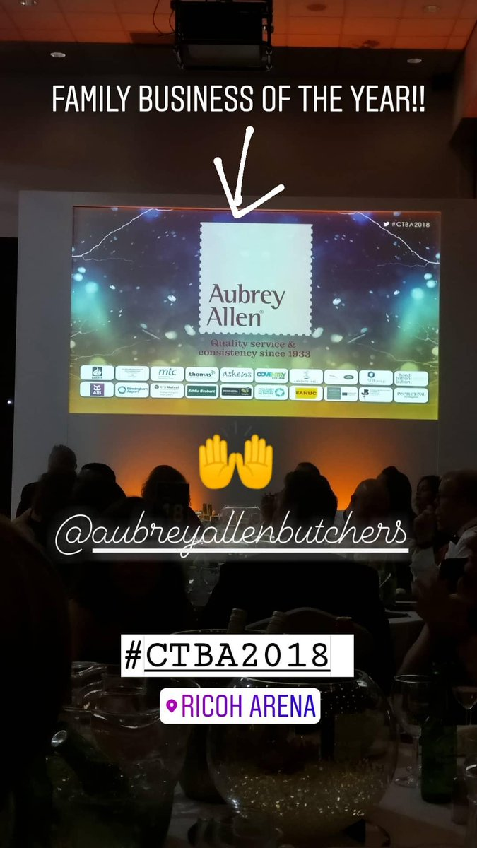 Well done @AubreyAllen and all of the AA team!!  #familybusiness #aubreyinspires #ctba2018 https://t.co/9lRbcxAbKY
