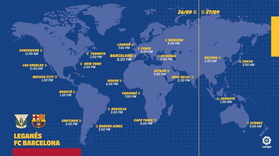 RT @FCBarcelona_es: 🌍⏰ Consulta los horarios para seguir el #LeganesBarça 🔵🔴 #ForçaBarça https://t.co/PKYhUExQWL