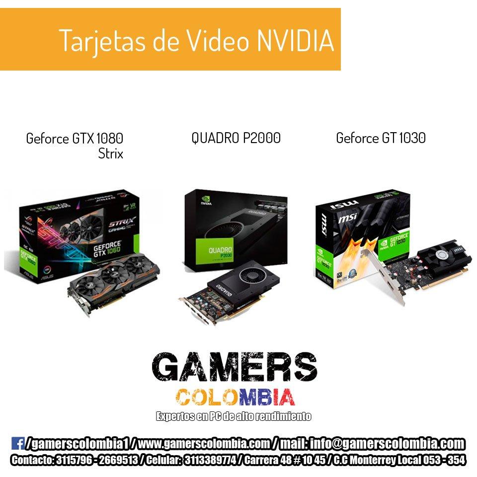 Tarjetas de video NVIDIA  #PcGamers #GamersColombia #NVIDIA https://t.co/cJPGdEqEtT