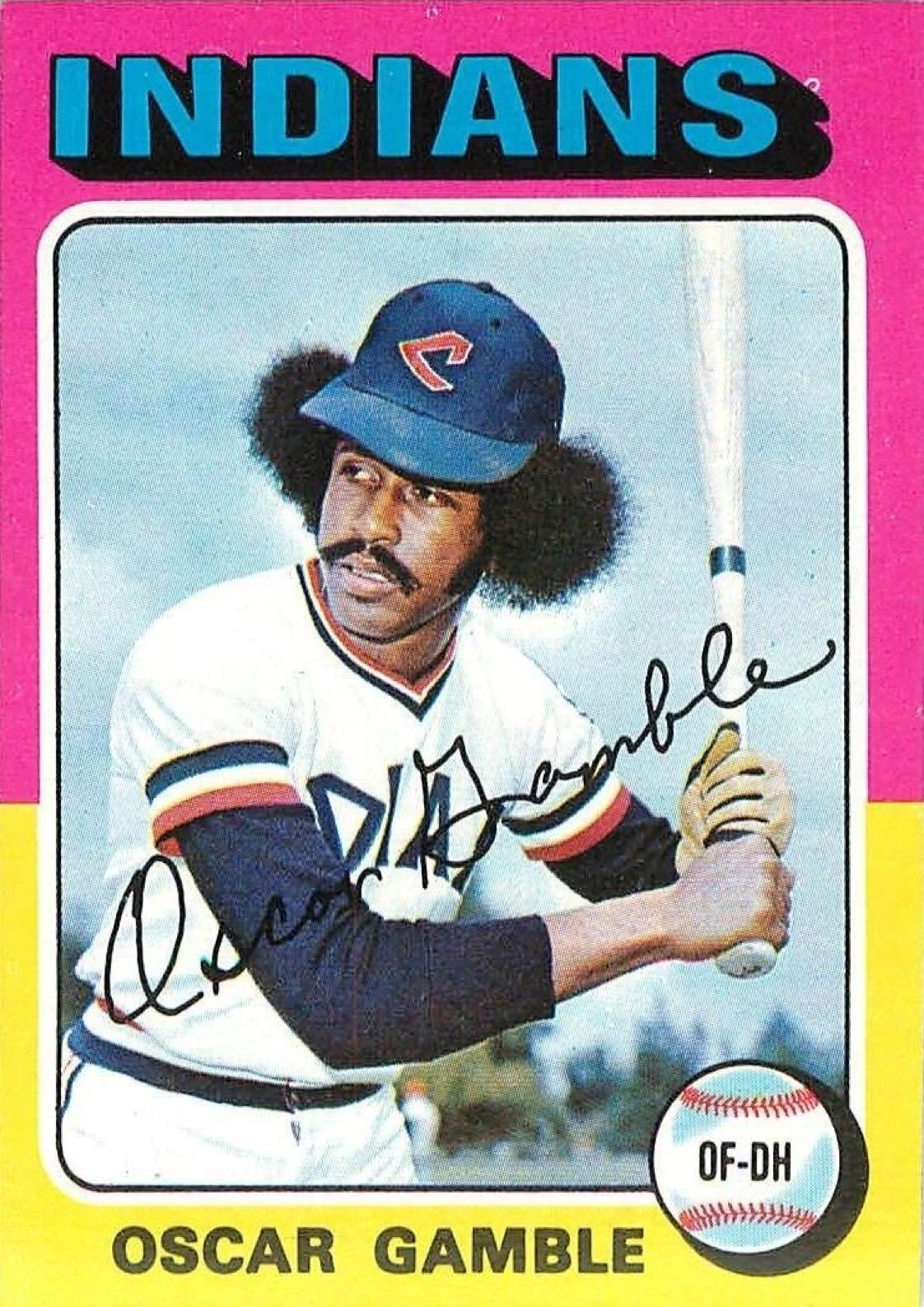 Everyone loves the 1976 Topps Traded Oscar Gamble but you better not sleep on this sweet '75. https://t.co/rcWooJHG5L