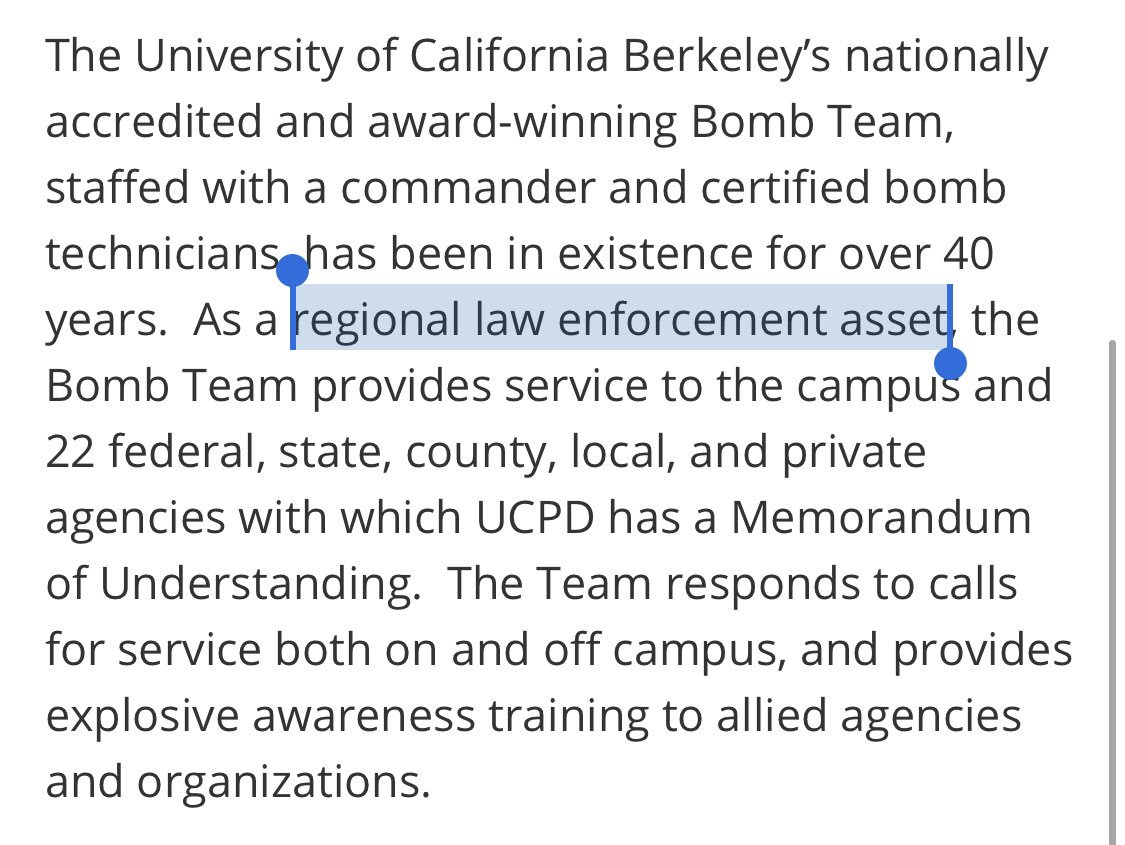 oh yeah, the regional bomb squad can be part of campus security, that's a thing that definitely makes sense https://t.co/VeczJJauc4