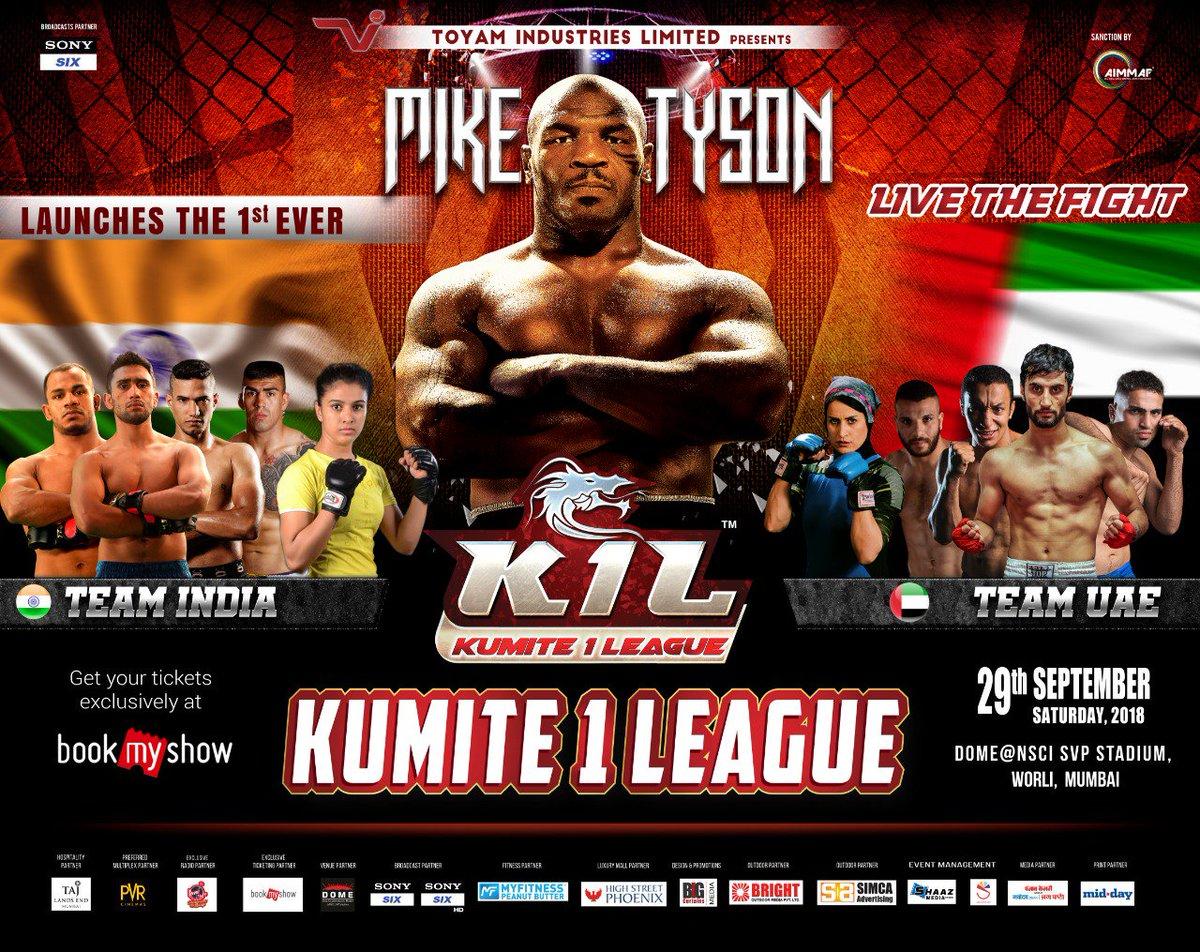 Coming to Mumbai, India September 29 for Kumite 1 League India vs UAE #fightnight https://t.co/qj4NdJGGKW