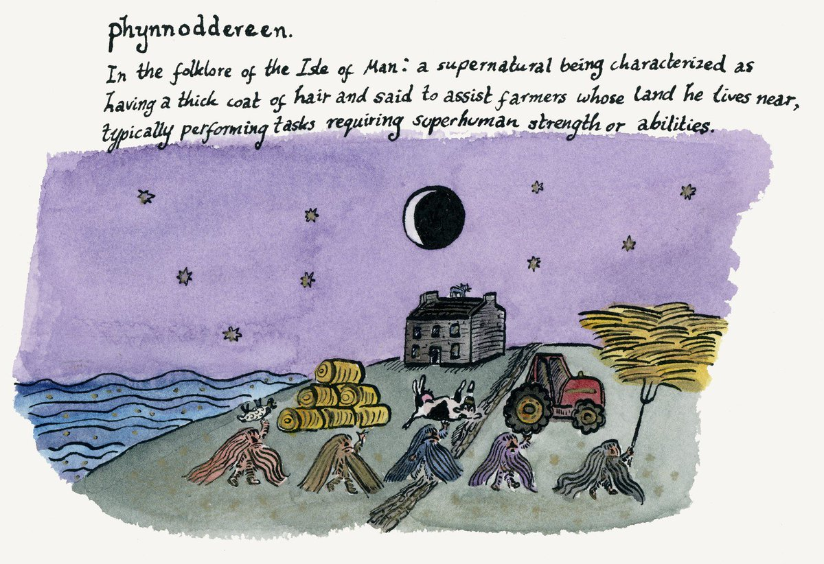 test Twitter Media - OED Word of the Day: phynnodderee, n. A supernatural being in the folklore of the Isle of Man, said to assist farmers (image by @imogenfoxell) https://t.co/7owmywYRZp https://t.co/vtJmPDnESM