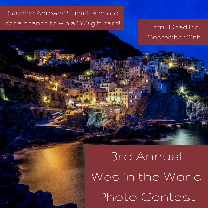 test Twitter Media - The Fries Center for Global Studies is looking for YOUR Study Abroad photos! 🌍  There are 5 categories and prizes for each! Enter your submissions by 9/30: https://t.co/VaHlPywVqJ 📸 : Natalie Strassheim, '18 https://t.co/M7fzU8LwZO