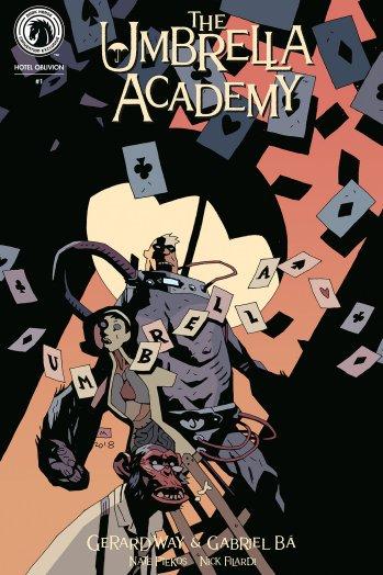 'Hellboy' creator provides 'Umbrella Academy' cover for New York Comic Con