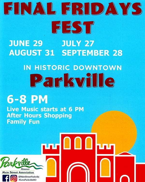 test Twitter Media - Don't forget to stop downtown this Friday (9/29) from 6-9pm for Community Services & Safety Night at the last @ParkvilleMainSt Final Fridays Fest of 2018. Check out emergency vehicles from @parkvillemo and @SPFPD. Live music starts at 6pm. https://t.co/TotUHNJarB