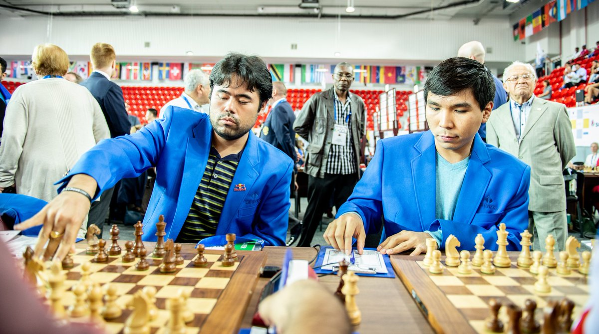 test Twitter Media - RT @BatumiChess2018: Hikaru Nakamura and Wesley So. #BatumiChess2018   Photo: @davidllada https://t.co/wjoatjDryx