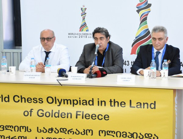 test Twitter Media - Press conference devoted to the start of the Olympiad took place at the press-center. Speakers: Zurab Azmaiparashvili, Georgios Makropoulos, Giorgi Giorgadze. @BatumiChess2018 #BatumiChess2018 https://t.co/thSyiZMAcf
