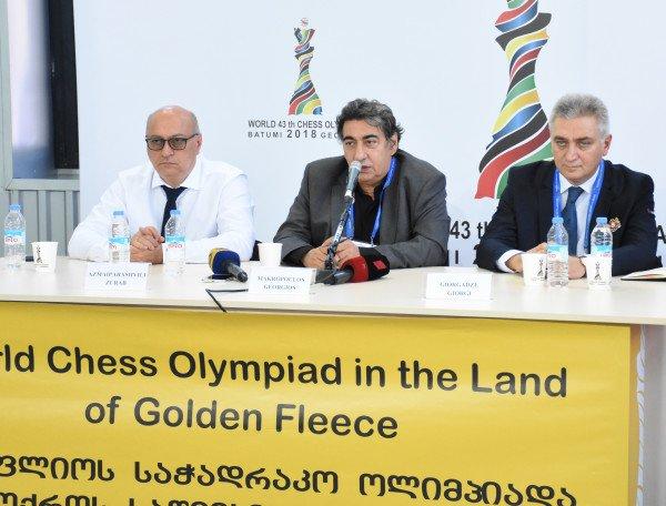 test Twitter Media - Press conference devoted to the start of the Olympiad took place at the press-center. Speakers: Zurab Azmaiparashvili, Georgios Makropoulos, Giorgi Giorgadze. @BatumiChess2018 #BatumiChess2018 https://t.co/thSyiZMAcf