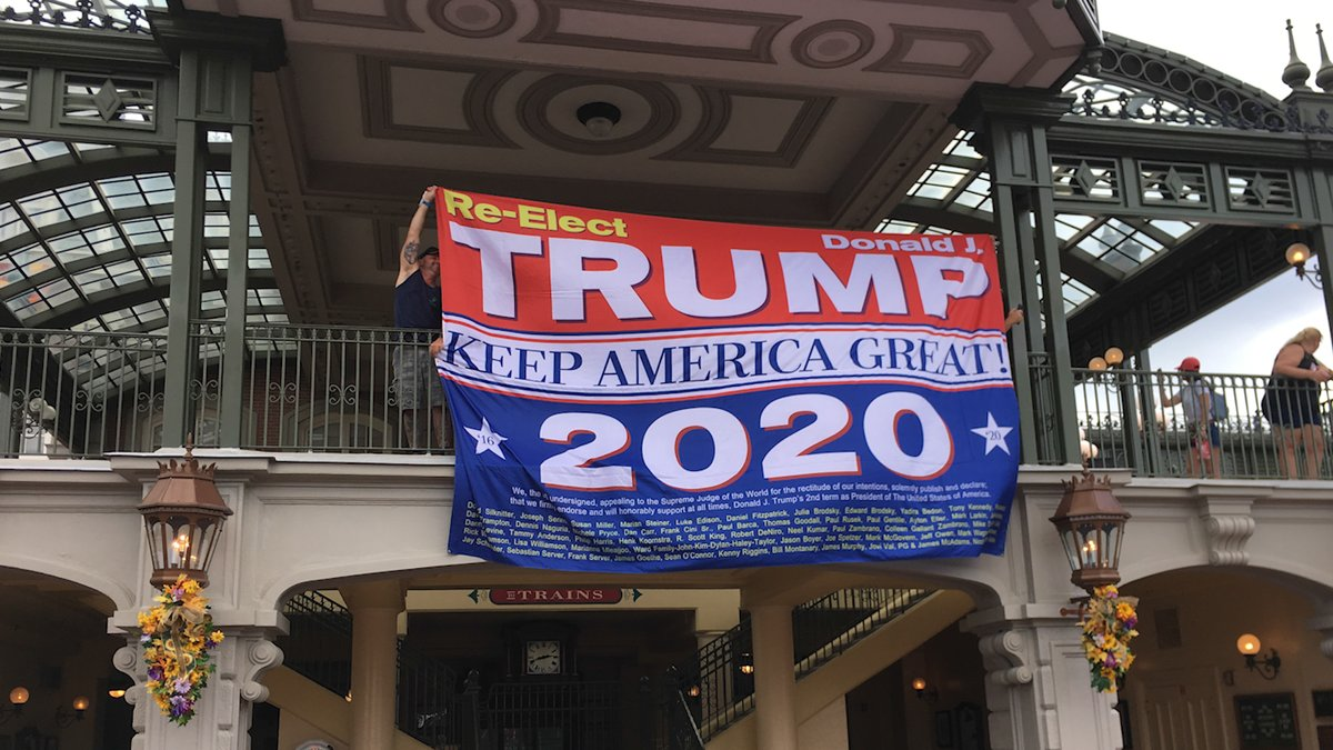 test Twitter Media - Man hangs Trump re-election banner at Disney World https://t.co/tWsKk2kwPf https://t.co/9Frjrwo77h