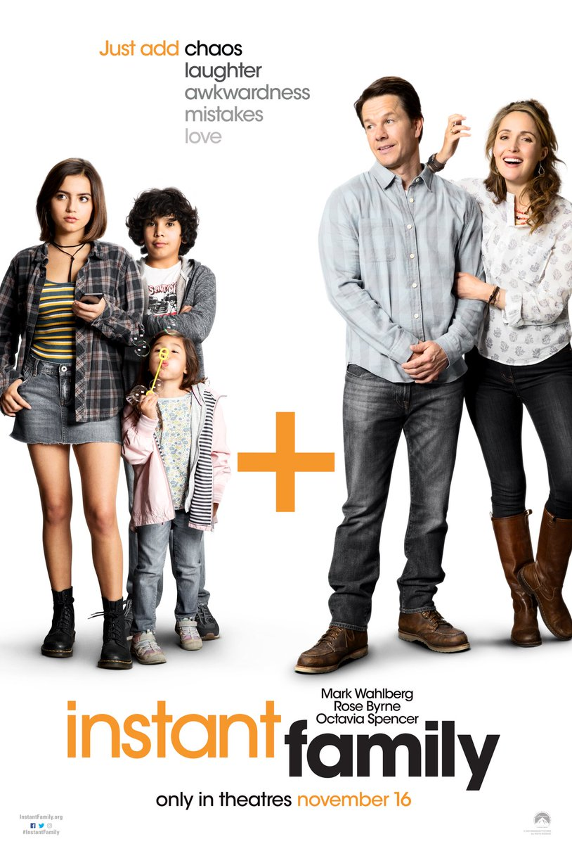 Excited to share the official poster for my new movie @instantfamily — in theatres Nov 16th. https://t.co/Ws9obaT3C3