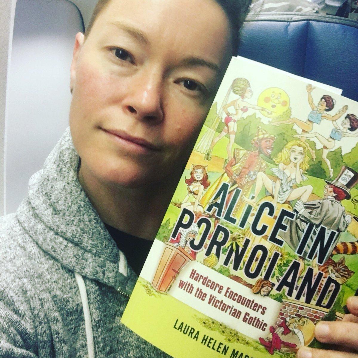 Flying to Denison University with an ARC of 's Alice in Pornoland! #pornstudies #booksonaplane