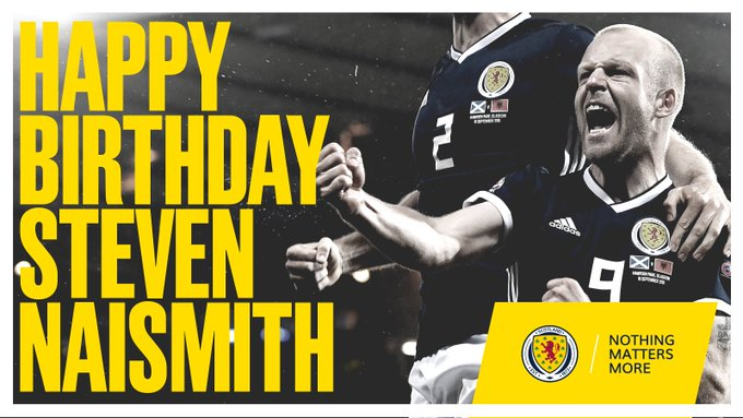 | Happy Birthday to Scotland forward Steven Naismith!  4  7  caps for       8  goals scored