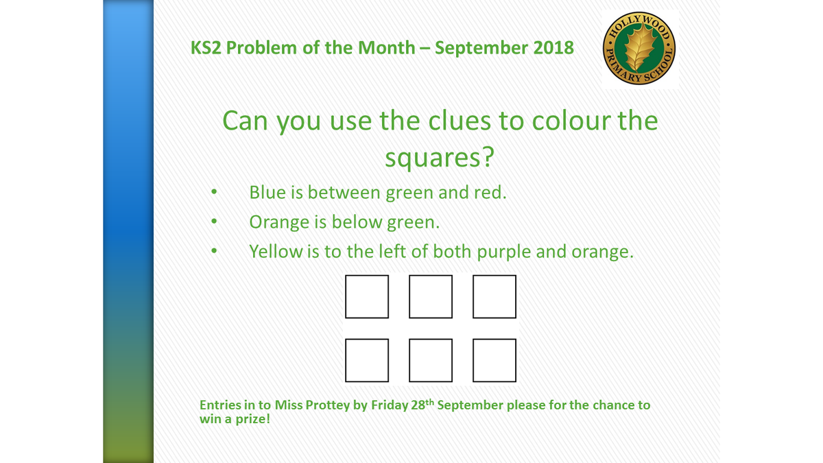 test Twitter Media - A new school year and a new Problem of the Month to solve! Two weeks left to enter KS1 and KS2 for a chance of winning a prize. https://t.co/iDfg6x9rWS