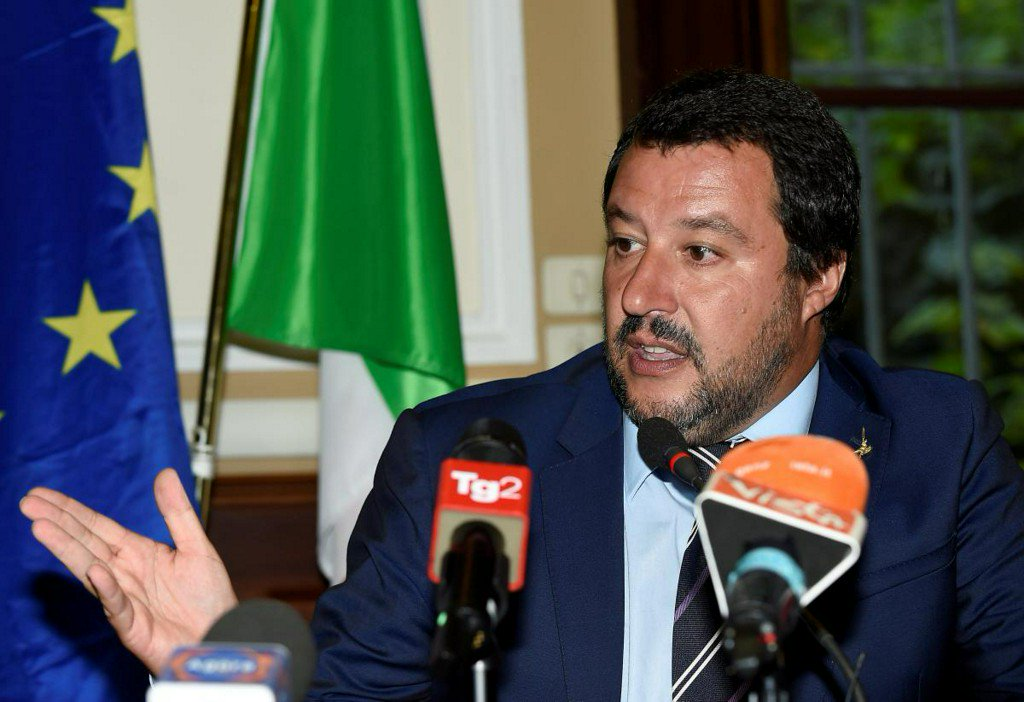 Italy's Salvini likens African immigrants to 'slaves'