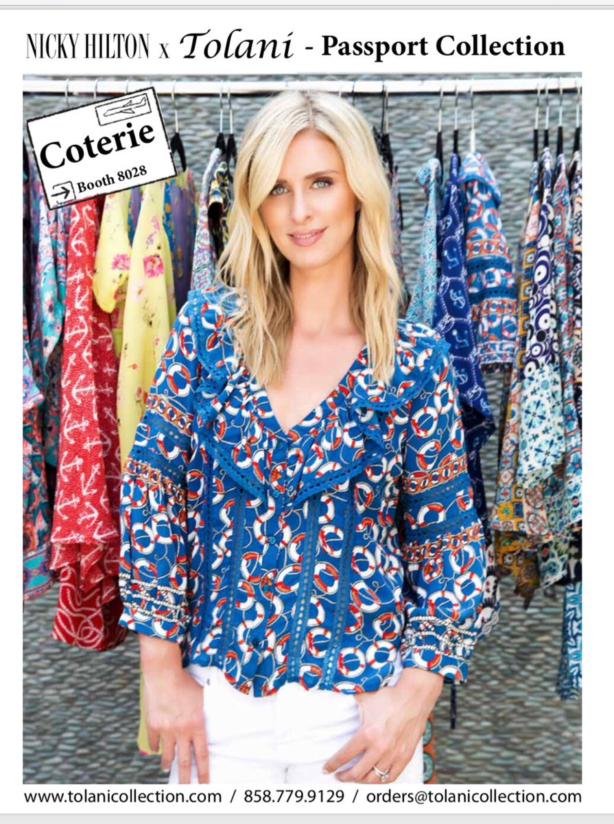 RT @NickyHilton: Excited to be showing Nicky Hilton x Tolani this weekend at #Coterie in NYC. #NHxTolani https://t.co/NT1X2RKzK2