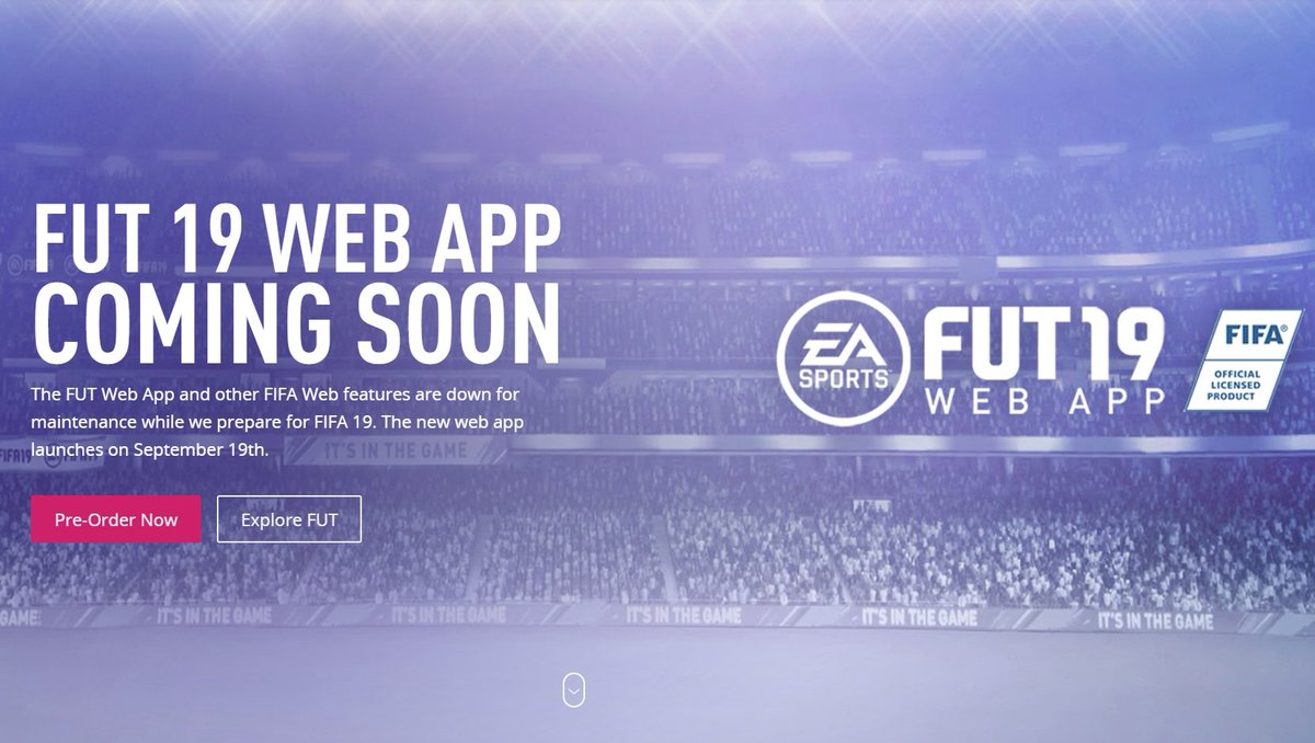 test Twitter Media - September 19th.  It's happening!  #FIFA19 #FUT19 #WebApp https://t.co/QOpVIvkLwT