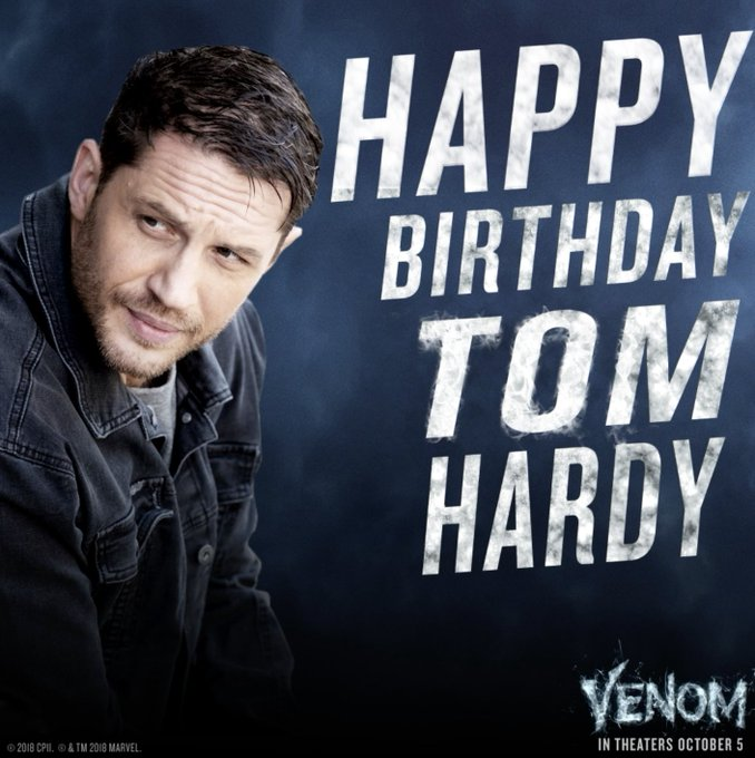 SonyPictures: Happy Birthday to the ultimate human host, Tom Hardy.