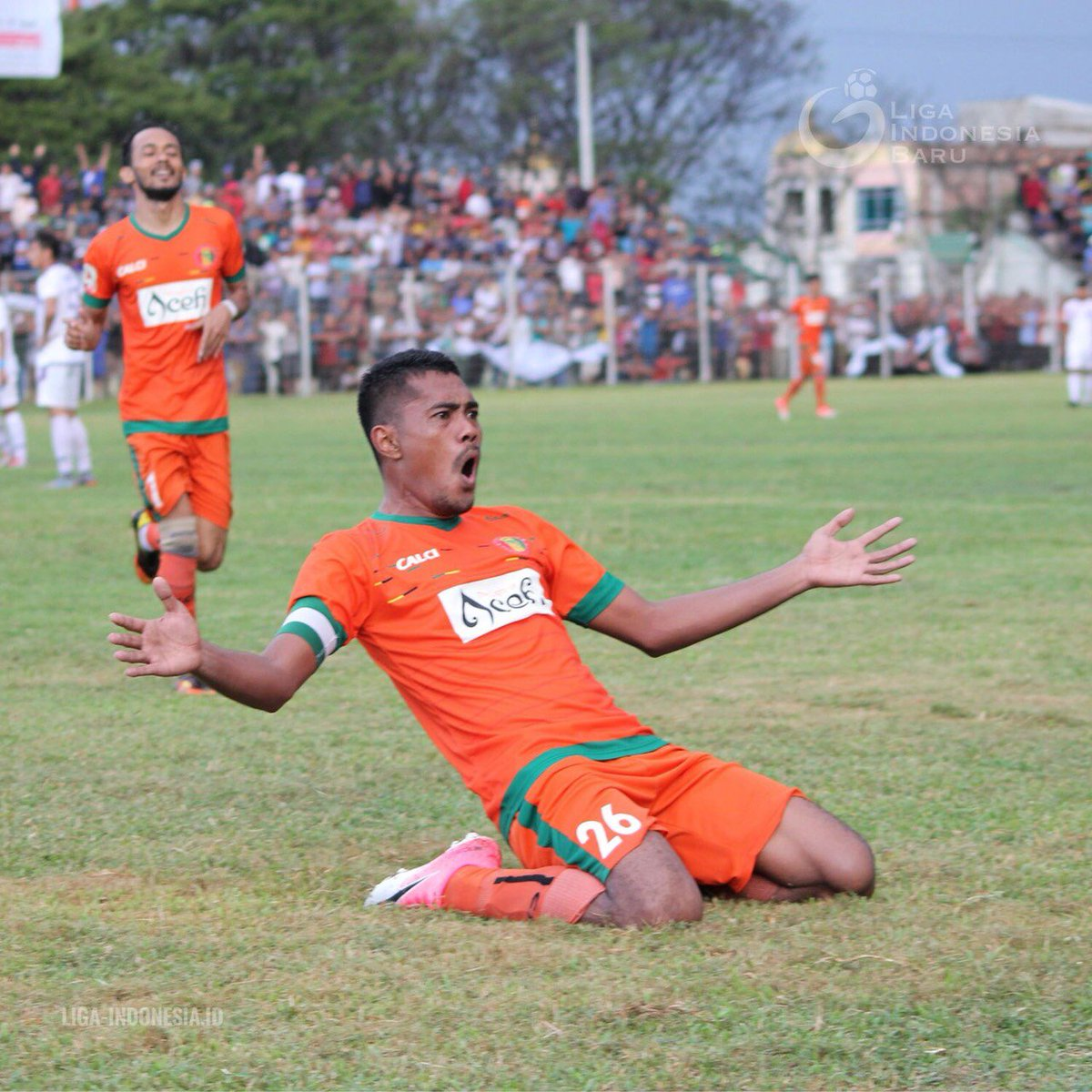 RT @Liga2Match: Ekspresi dari Fary Komul setelah mencetak satu gol ke gawang Persita Tangerang ⚽️✔️  #Liga2Indonesia https://t.co/hoiHpjduul