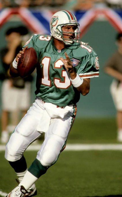 Happy 57th Birthday to Miami Dolphins Hall-of-Fame QB Dan Marino.