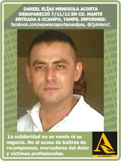 RT @LaAlamedaTamps: #TeBuscamos Daniel Elias Mendiola Acosta. Ocampo, Tmps  #Tamaulipas https://t.co/Km2ozwYxRT