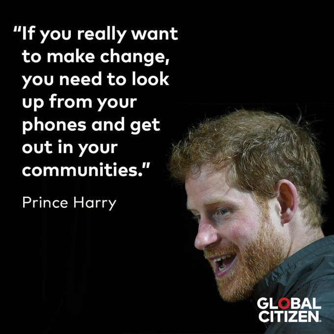 Be an activist like the Duke of Sussex who turns 34 today! Happy birthday, Prince Harry