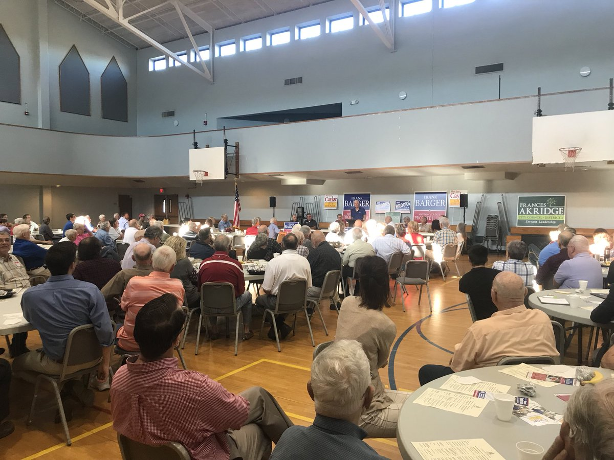 I spoke to a packed crowd this morning at the Madison County Republican Men's Club. #Mo4America #SayNoToSocialism #StopPelosi