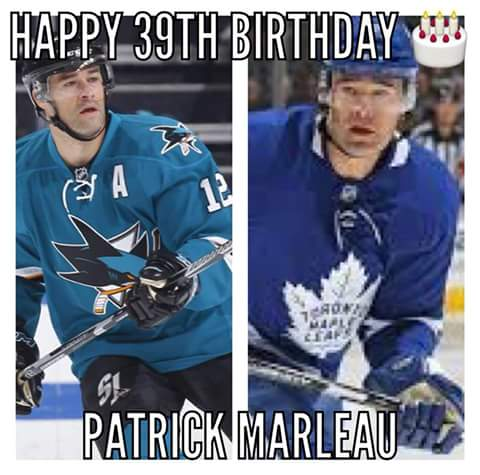 Happy 39th Birthday to former player and current player Patrick Marleau