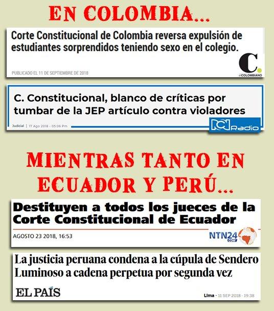 RT @mamertoxdoquier: En justicia Ecuador y Perú están a años luz de nosotros. Qué envidia. https://t.co/MD3ZWY1NAF